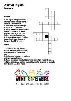 Animal Rights Crossword