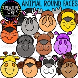 Animal Round Faces {Creative Clips Clipart}