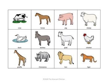 Animal SORTING Vocabulary Activity, SPEECH THERAPY, Autism, Vocabulary
