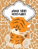 Animal Safari Notes and Labels