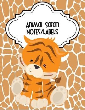 Animal Safari Notes and Labels