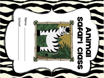Animal Safari Print Take Home Folder Covers