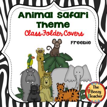 Animal Safari Print Take Home Folder Covers