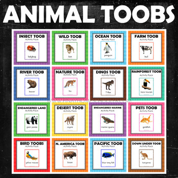 Animal Study Safari Toobs Activity Learning BUNDLE