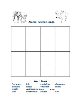 Animal Science Bingo
