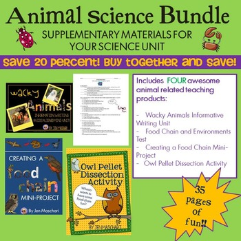 Animal Science Bundle: Supplementary Materials for your Science Unit