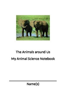 Animal Science Notebook. Great for a Science Learning Center