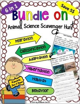Animal Science Scavenger Hunt - The Bundle