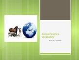 Animal Science Vocabulary Powerpoint