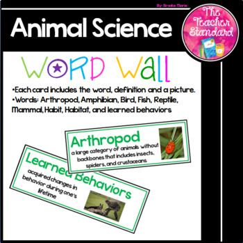 Animal Science Word Wall