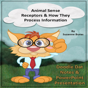 Animal Sense Receptors Doodle Dat Notes Page & PowerPoint Presentation: 4-LS1-2