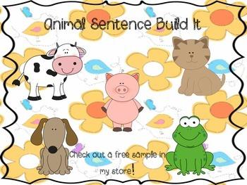 Animal Sentence Build It
