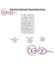 Animal Sexual Reproduction Word Search