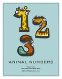 Animal Shaped Number Posters 1-10