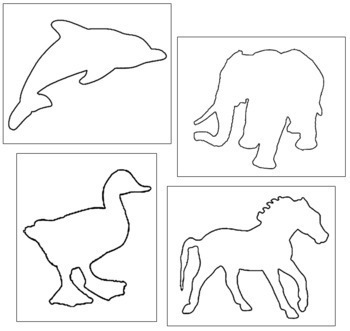 Animal Shapes: Pin-Poke & Cutting
