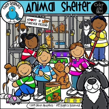Animal Shelter Clip Art Set - Chirp Graphics