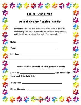 Animal Shelter Field Trip Form