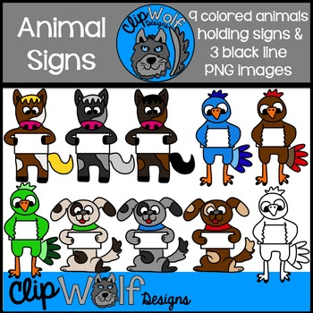 Animal Sign Clip Art: Personal and Commercial Use
