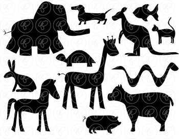 Animal Silhouette Clipart by Poppydreamz
