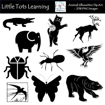Animal Silhouettes Clip Art (A-F) - Commercial Use