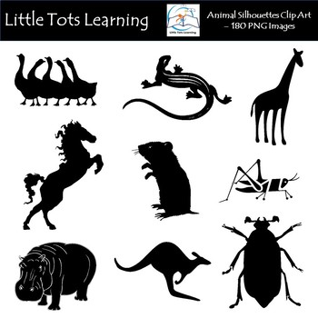 Animal Silhouettes Clip Art (G-Z) - Commercial Use