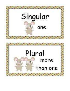Animal Singular and Plural  Noun Sort