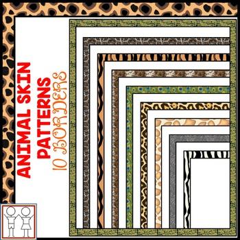 Animal Skin Pattern Borders