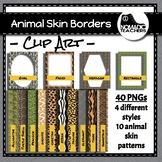 Animal Skin Pattern Borders and Backgrounds - Clip Art