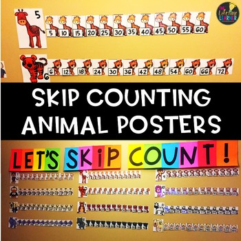Animal Skip Counting Posters