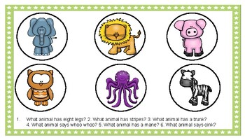 Animal Smash Mat Sample - What Questions