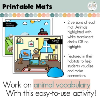 Animal {Vocabulary} Smash Mats