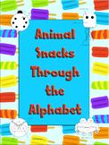Animal Snacks Through the Alphabet  - Build-a-snack set fo