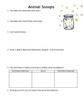 Animal Snoops Mini-Quiz