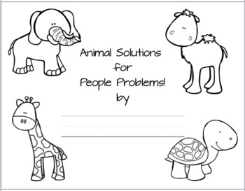 Animal Solutions for People Problems Activity Book (NGSS 1-LS1-1)