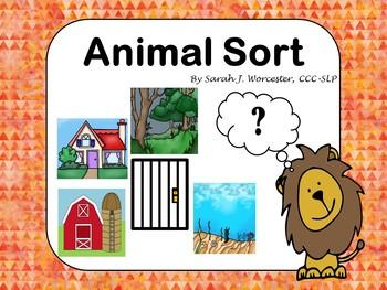 Animal Sort - A sorting game for describing