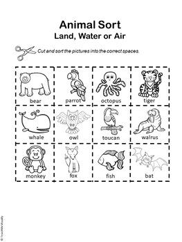 Animal Sort - Land, Air or Water