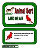 Animal Sort - Land or Air