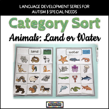 Animal Sort Land or Water for Autism and Early Childhood