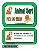 Animal Sort - Pet or Wild