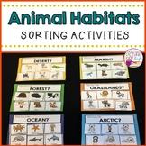 Animal Habitats Sorting Activity