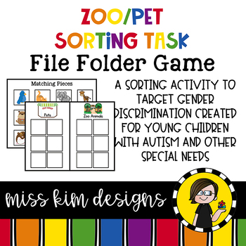 Zoo and Pet Sorting File Folder Game for Early Childhood Special Education