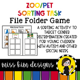 Folder Game: Zoo and Pet Sorting for Early Childhood Special Education