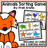 Animals Sorting Game