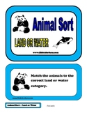 Animal Sorting - Land or water