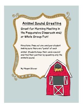 Animal Sound Greeting