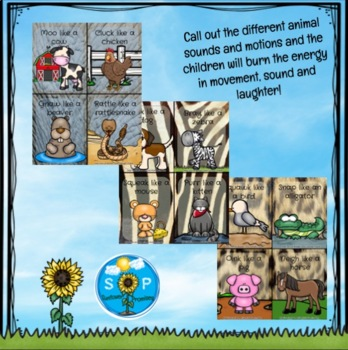 Animal Sound and Movement Cards / Wiggle Tamers
