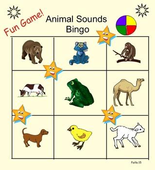 Animal Sounds Bingo