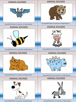 Animal Sounds - PowerPoint Game and Worksheet Bundle