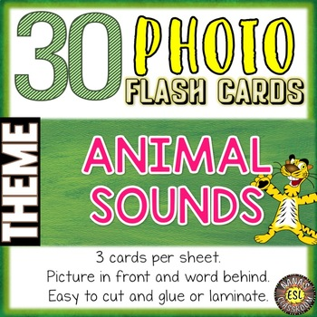 Animal Sounds Photo Flash Cards