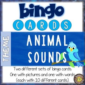 ESL games - Animal sounds bingo